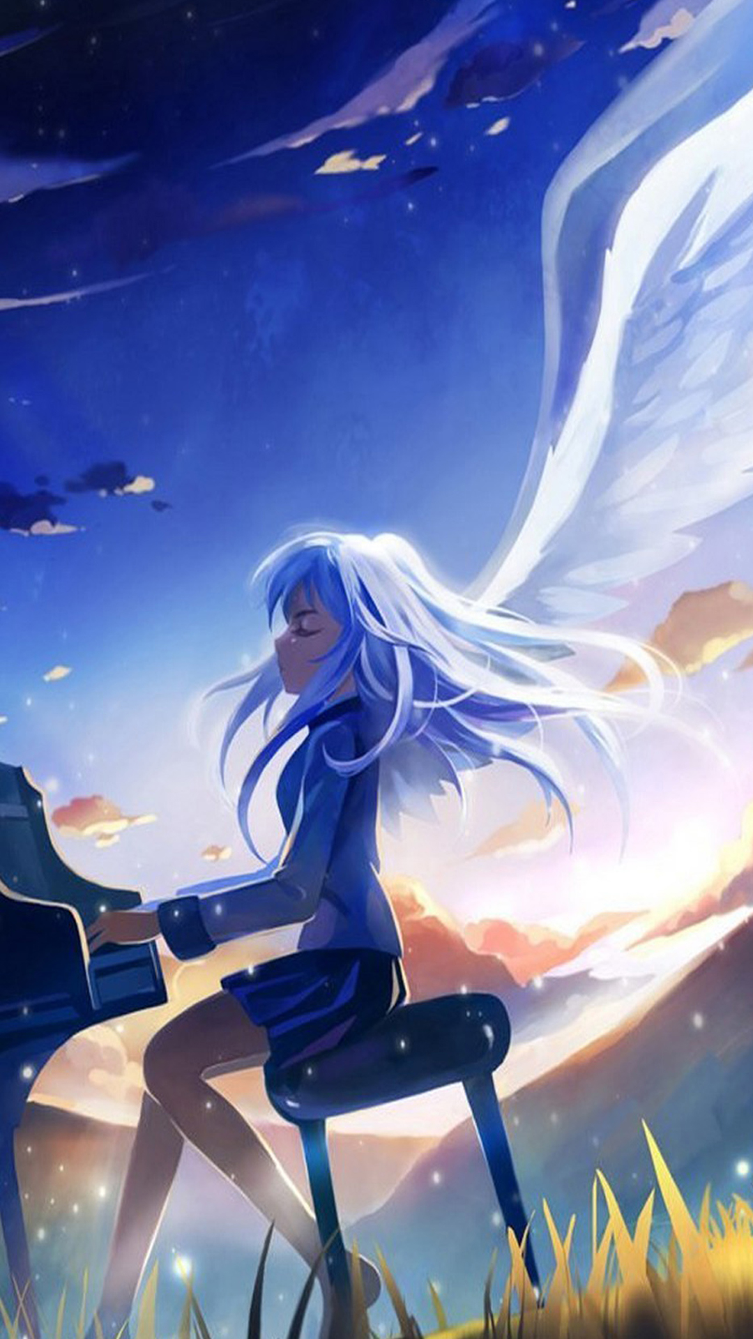 piano wallpaper angel beats wallpapers hd anime 1080x1920